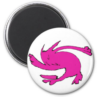 the cat which dances 2 inch round magnet