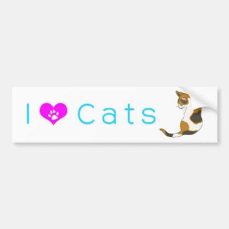 The cat which turns around (tortoise-shell cat) bumper sticker