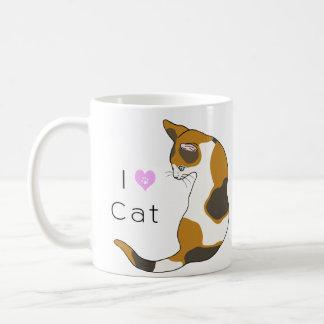 The cat which turns around (tortoise-shell cat) coffee mug
