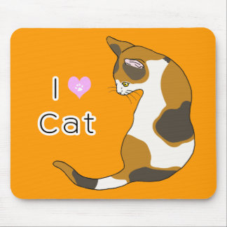 The cat which turns around (tortoise-shell cat) mouse pad