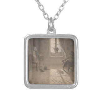 The Cat Who Became a Woman by Jean-Francois Millet Necklace