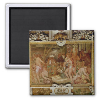 The Catanaean Twins, Anapias and Amphinamus 2 Inch Square Magnet
