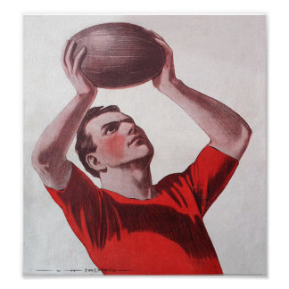The Catch - Vintage Rugby Poster