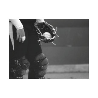 The Catcher - Black / White Stretched Canvas Print