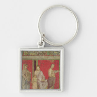 The Catechism with a Young Girl Reading Keychain
