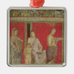 The Catechism with a Young Girl Reading Square Metal Christmas Ornament