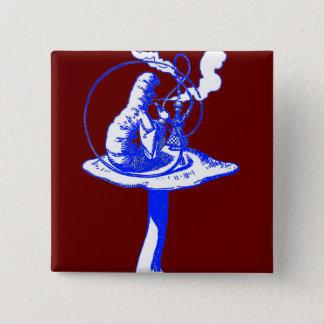 The Caterpillar in Blue Pinback Button