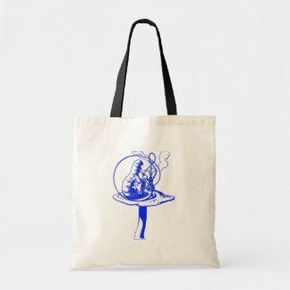 The Caterpillar in Blue Tote Bag