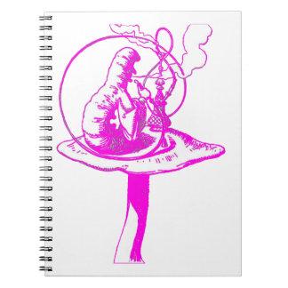 The Caterpillar in Fuschia Notebook
