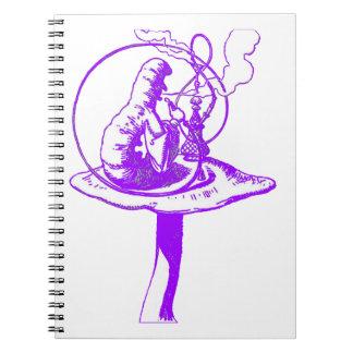 The Caterpillar in Purple Notebook