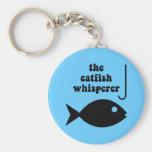 the catfish whisperer basic round button keychain