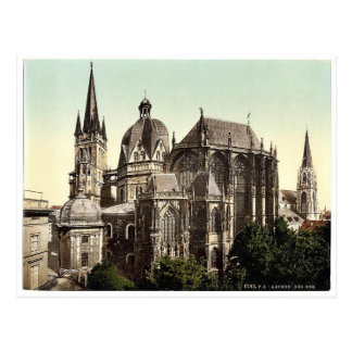 The cathedral, Aachen, the Rhine, Germany rare Pho Postcard