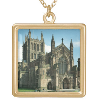 The Cathedral Church of the Blessed Virgin Mary an Square Pendant Necklace