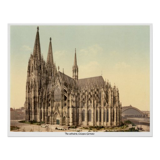 The cathedral, Cologne, Germany Poster