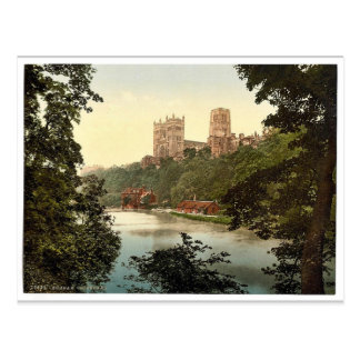 The cathedral, Durham, England rare Photochrom Postcard