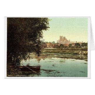 The cathedral from the river, Ely, England rare Ph Cards
