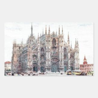 The Cathedral, Milan Rectangular Sticker