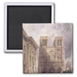 The Cathedral of Notre Dame, Paris, 1836 Magnet