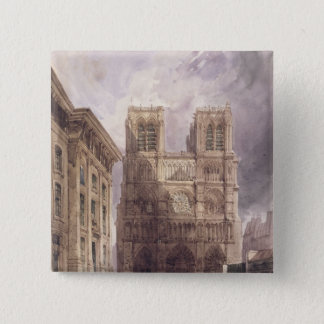 The Cathedral of Notre Dame, Paris, 1836 Pinback Button