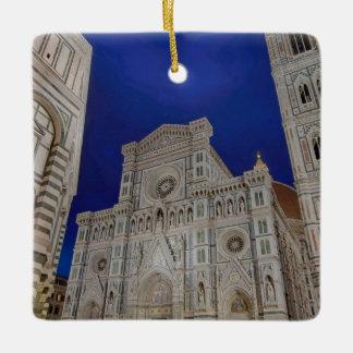 The Cathedral of Santa Maria del Fiore in italy Ceramic Ornament