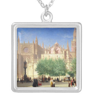 The Cathedral of Seville Square Pendant Necklace