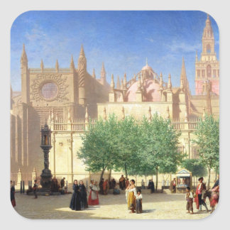 The Cathedral of Seville Square Sticker