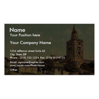 The cathedral of Sion Valais Switzerland vintage Business Card