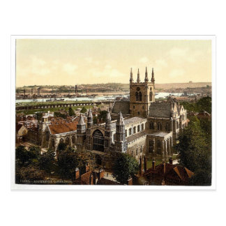 The cathedral, Rochester, England rare Photochrom Postcard