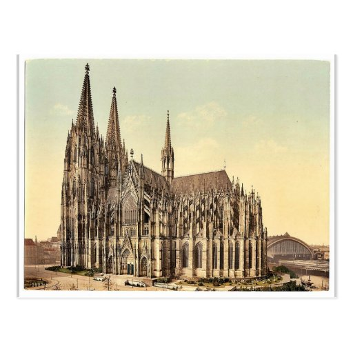 The cathedral, side, Cologne, the Rhine, Germany r Postcards