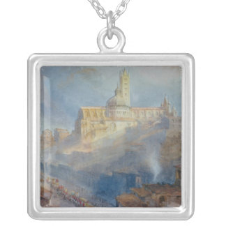 The Cathedral, Siena, 1902 Silver Plated Necklace