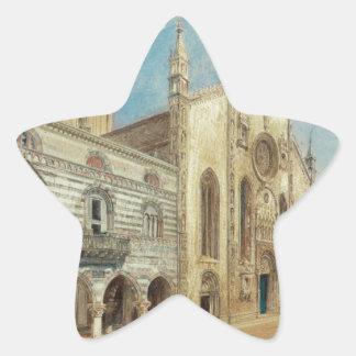 The Cathedral Square in Como by Rudolf von Alt Star Sticker