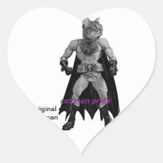 the catman can heart sticker