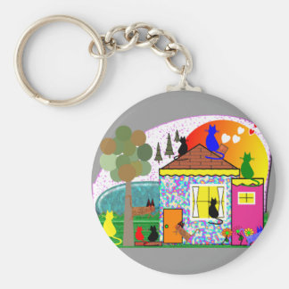 The Cats Are Taking Over The House Basic Round Button Keychain