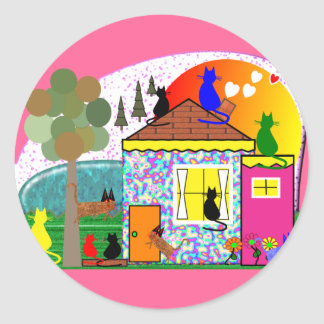The Cats Are Taking Over The House Classic Round Sticker