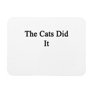 The Cats Did It Rectangular Photo Magnet