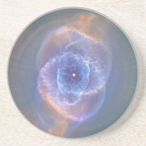 The Cat's Eye Nebula Dying Star Gas and Dust Beverage Coasters