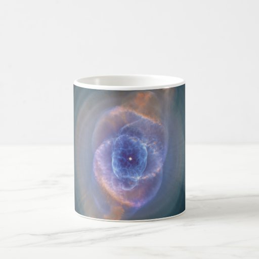 The Cat's Eye Nebula Dying Star Gas and Dust Coffee Mugs