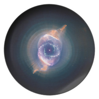 The Cat's Eye Nebula: Dying  Star Gas and Dust Dinner Plates