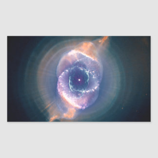 The Cat's Eye Nebula: Dying  Star Gas and Dust Rectangular Sticker
