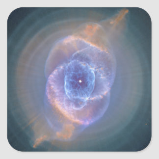 The Cat's Eye Nebula Dying Star Gas and Dust Square Sticker