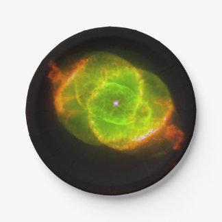 The Cat's Eye Nebula.jpg 7 Inch Paper Plate