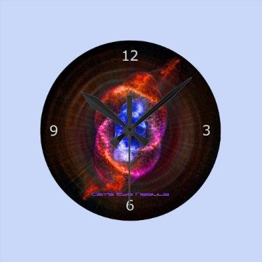 The Cats Eye Nebula Round Clocks