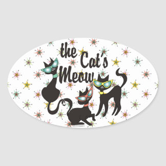 The Cat's Meow Oval Sticker