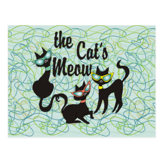 The Cat's Meow Postcard