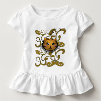 The Cat's Meow  With Swirls - Customized Toddler T-shirt