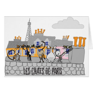 The Cats of Paris greeting card