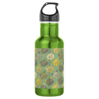 the cats stainless steel water bottle