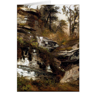 The Catskills Rocky Cliff - Durand Greeting Card