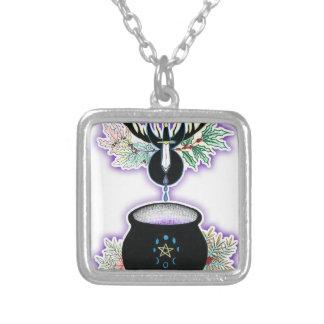 The Cauldron Born Square Pendant Necklace