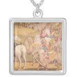 The Cavalcade of the Magi, c.1460 Square Pendant Necklace